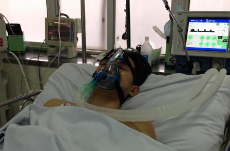 Bệnh nhân Thành T. trong thời gian điều trị tại Chợ Rẫy