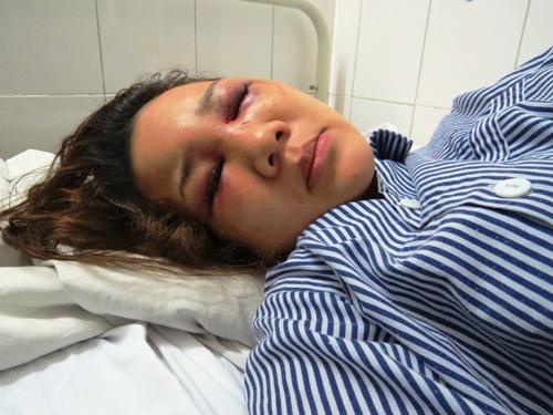 Chị Nguyễn Phương Thảo tại bệnh viện.