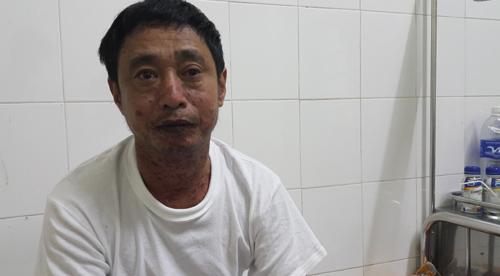 Ông Trương Như La đang điều trị tại bệnh viện. Ảnh: Hải Bình.