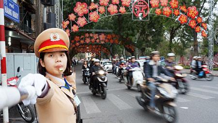 Hà Nội phân luồng giao thông trên một số tuyến phố