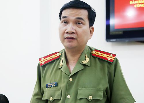 Đại tá Nguyễn Sỹ Quang - Trưởng Phòng Tham mưu kiêm người phát ngôn của Công an TP HCM. Ảnh: Quốc Thắng.