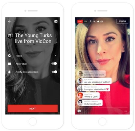 """Youtube trang bị thêm tính năng phát video trực tiếp trên ứng dụng di động để cạnh tranh với các """"đối thủ"""" khác như Facebook, Twitter hay Snapchat..."""