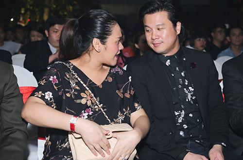 Thanh Bùi và vợ trong sự kiện. Ảnh:Lê Huy.