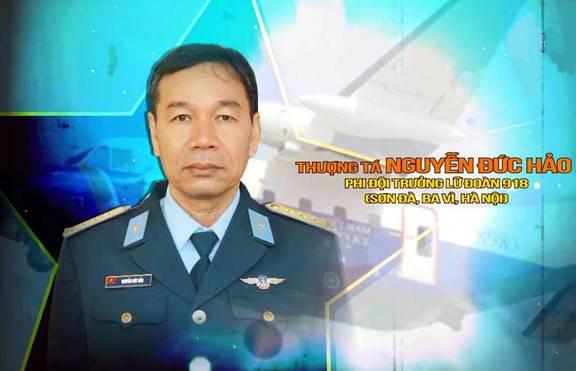 Thượng tá Nguyễn Đức Hảo - Phi đội trưởng thuộc Lữ đoàn 918 - Ảnh: QĐND