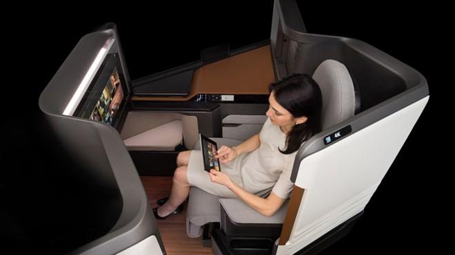 Hệ thống Waterfront của Panasonic cho phép hành khách có thể sử dụng các thiết bị di động để điều khiển hệ thống giải trí của máy bay.