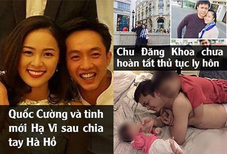 Quốc Cường có tình mới sau khi chia tay Hà Hồ, trong khi Chu Đăng Khoa còn vướng bận giải quyết thủ tục ly hôn với vợ.