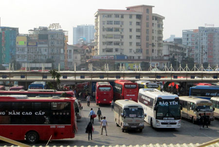 Sau kỳ nghỉ Tết, các bến xe cũng bắt đầu đông hơn nhiều so với ngày thường.