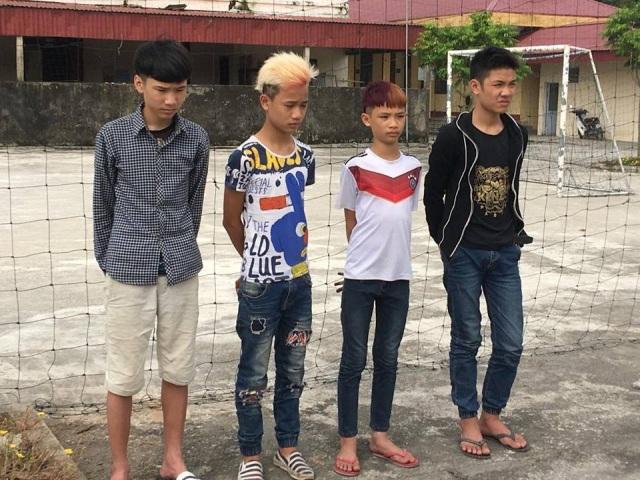 Nhóm đối tượng gây ra vụ ném đá hàng loạt trên tuyến cao tốc Hà Nội - Hải Phòng. Ảnh công an cung cấp