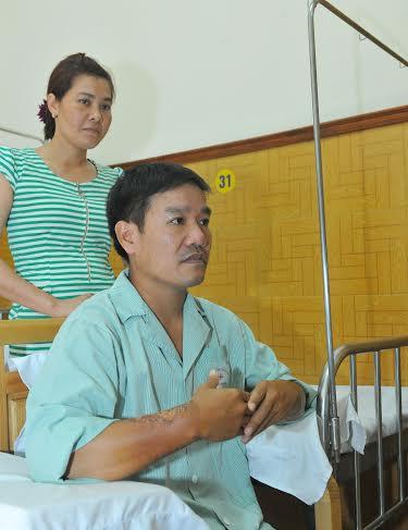 Sức khỏe của phi công Nguyễn Hữu Cường đã có tiến bộ hơn.