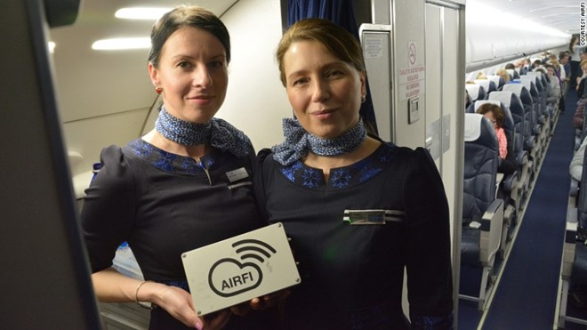 AirFi truyền nội dung giải trí thẳng vào thiết bị di động của hành khách.
