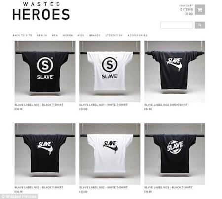 Những chiếc áo trên trang chủ của Wasted Heroes chỉ được quảng cáo đơn lẻ, nhưng ASOS đã đăng tải hình người mẫu diện chiếc áo cho sinh động.