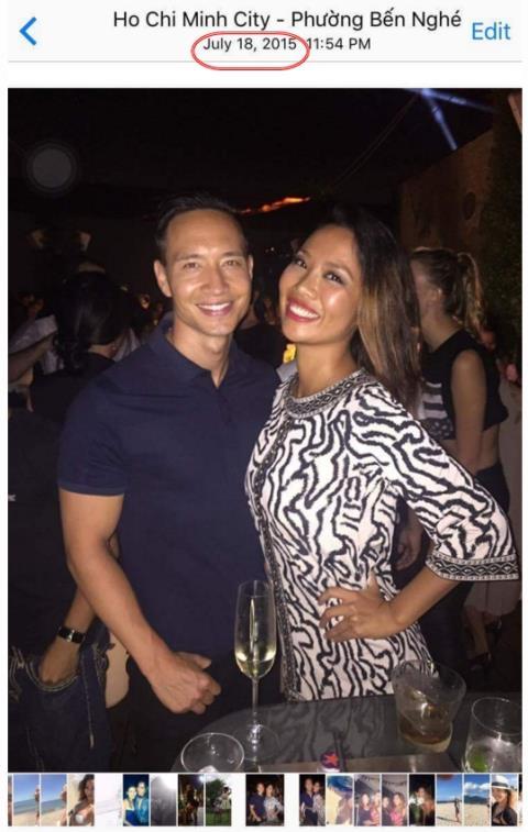 Nam diễn viên Kim Lý cùng cô người mẫu được cho là gặp gỡ nhau từ tháng 7/2015.