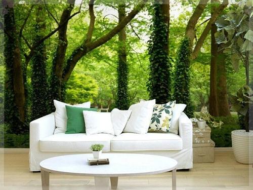 Dù không thể hít được khí trời trong lành, cảm nhận sự rung rinh của lá cây, bạn vẫn có thể gần với thiên nhiên hơn nhờ những bức tường sống động.