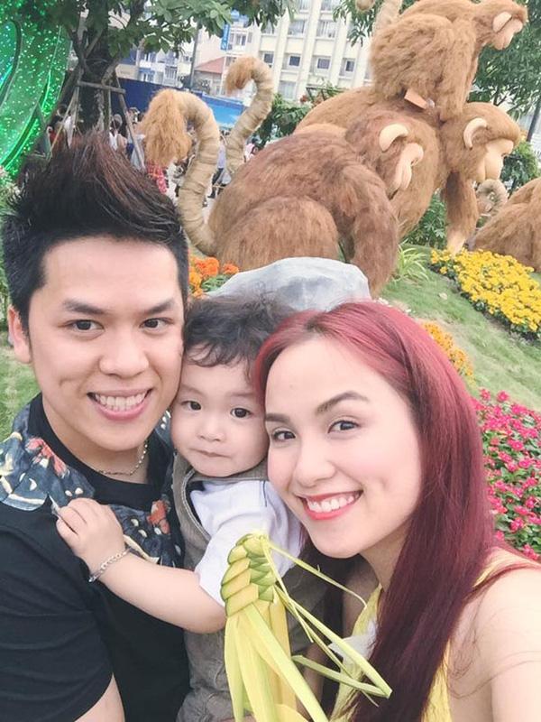 Gia đình nhỏ hạnh phúc của Diễm Hương.