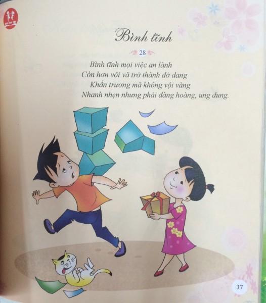 Bà thơ Bình tĩnh dạy con cách sống bình tĩnh trong tập thơ Quà cho con. Ảnh: T.T.
