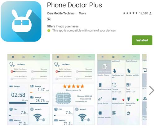 Phone Doctor Plus có thể chẩn đoán được tình trạng chi tiết của smartphone Android