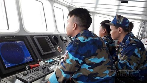 Tàu của lực lượng Cảnh sát biển tại hiện trường