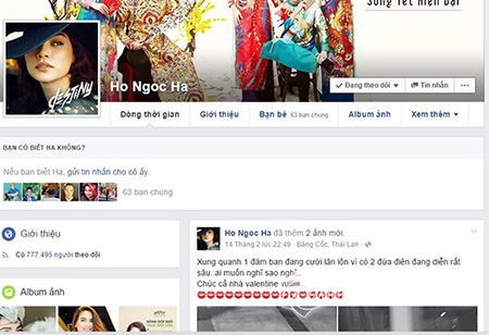 Hồ Ngọc Hà bản lĩnh mở cửa facebook giữa scandal cướp chồng