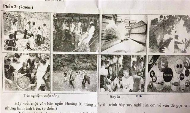 Đề Văn học kỳ 2 lớp 9 của quận Tân Bình, TPHCM sử dụng hình ảnh học sinh trình bày quan điểm của mình giữa việc trải nghiệm thực tế hay là chọn thế giới ảo