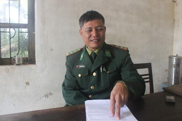 Trung tá Dương Thanh Tịnh, Tổ trưởng công tác cắm bản Rào Tre, Đồn Biên phòng Bản Giàng (Bộ đội Biên phòng Hà Tĩnh).