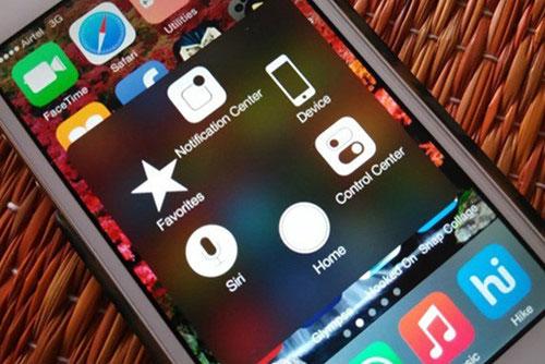 AssistiveTouch sẽ cung cấp menu với một loạt shortcut tùy chỉnh trên màn hình - Ảnh chụp màn hình