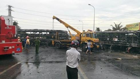 Hiện trường vụ tai nạn kinh hoàng - Ảnh: Quế Hà