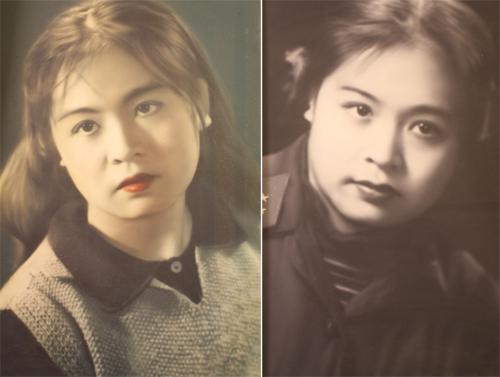 Nghệ sĩ Thu Hiền khi 15 tuổi (ảnh phải) và 16 tuổi (ảnh trái). Ảnh:NVCC.