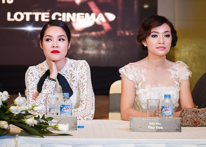 Hai nữ diễn viên khẳng định cạch mặt nhau sau phim Mặt nạ máu. Ảnh: Bá Ngọc