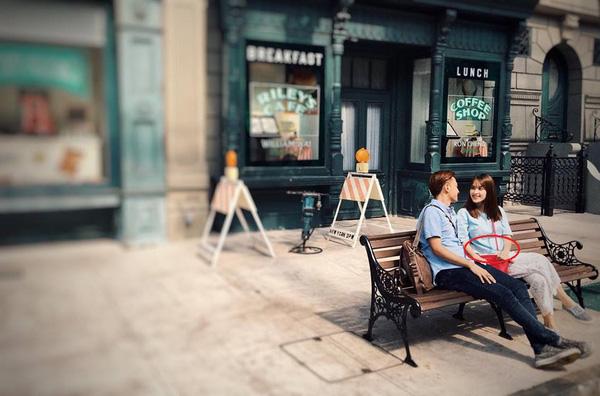Nữ diễn viên Vòng eo 56 lộ bụng lùm lùm khi chụp hình cùng ông xã Văn Anh.