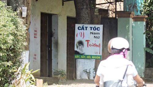 Tiệm cắt tóc trá hình ở đường Giải Phóng (TP Buôn Ma Thuột, tỉnh Đắk Lắk).