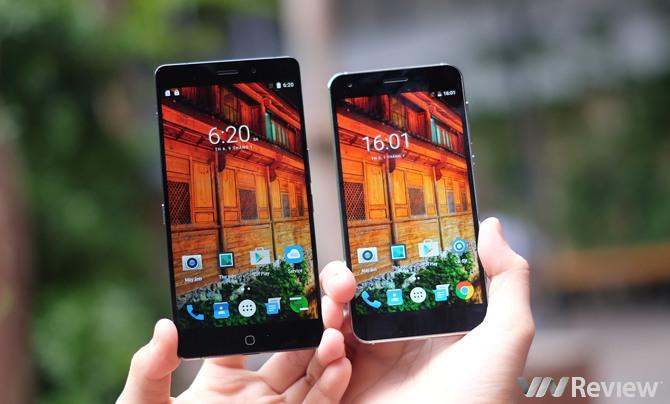 Elephone P9000 (bên trái) và S1