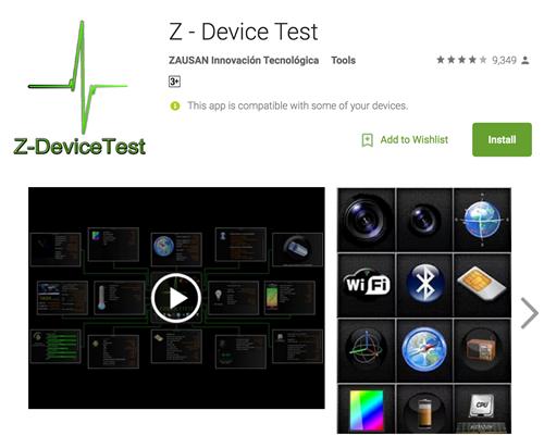 Z-Device Test cung cấp chi tiết các thông tin về GPS trên máy