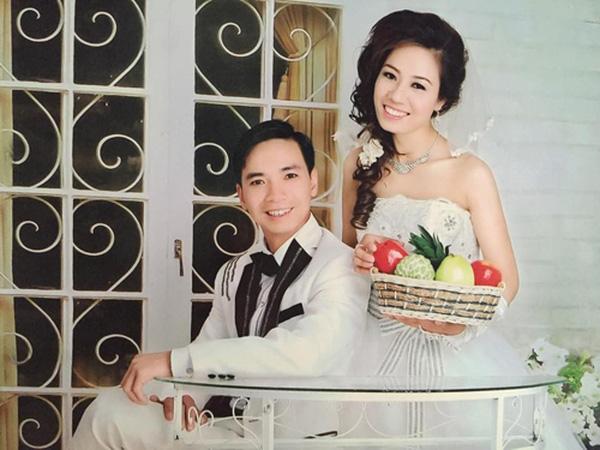 Chị Yên xinh đẹp trong bức ảnh cưới ngày chưa bị bệnh.