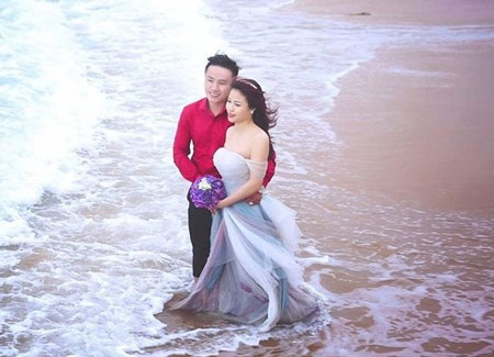 Ảnh cưới của Bích Phượng - Chí Lực. Ảnh: NVCC.