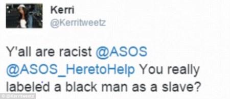 Thật phân biệt chủng tộc đấy ASOS. Mấy người thực sự đã gắn mác nô lệ cho một người da đen ư?