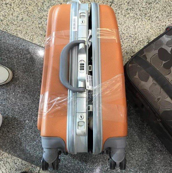 Hành lý bị bung nắp trong quá trình vận chuyển