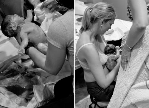 Khoảnh khắc em bé chào đời khiến mọi người trong phòng như vỡ òa.