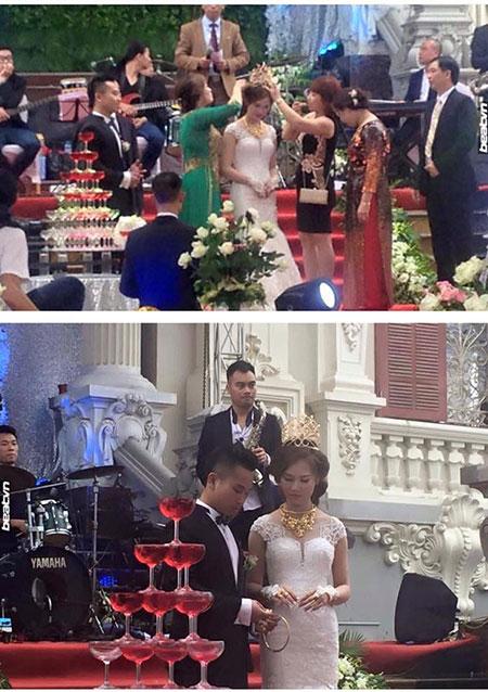 Màn trao vương miện như thi hoa hậu trong lễ cưới hot nhất ngày hôm qua đến nay