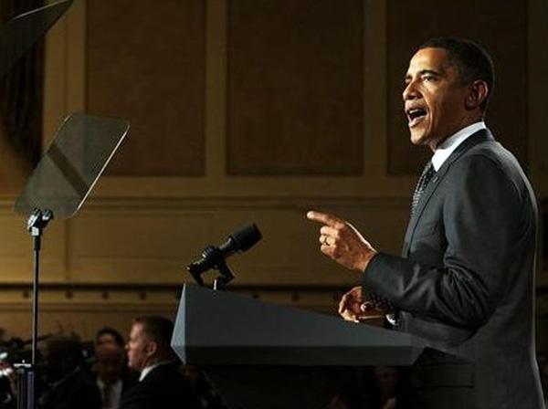 Máy nhắc cũng khiến ông Obama một phen hốt hoảng.