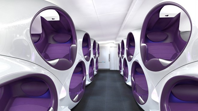 Ý tưởng Air Lair của Factory Design cho phép hành khách cá nhân hóa trải nghiệm nghỉ ngơi và giải trí trong chuyến bay.