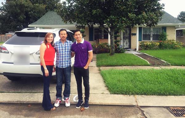 Họ đến thăm người thân của Thanh Bình và được cho mượn một căn nhà xinh xắn để ở trong thời gian ở Mỹ.