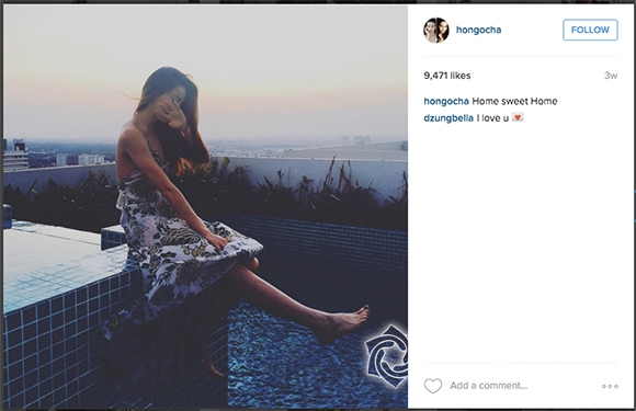 Những bức ảnh đã bị xóa sạch comment, chỉ còn lại lượng like và bình luận biểu thị sự yêu thương dành cho Hồ Hà.