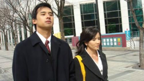 Lương Thế Thành năm 24 tuổi khi đóng cặp cùng Ngọc Trinh trong phim Mùi ngò gai.