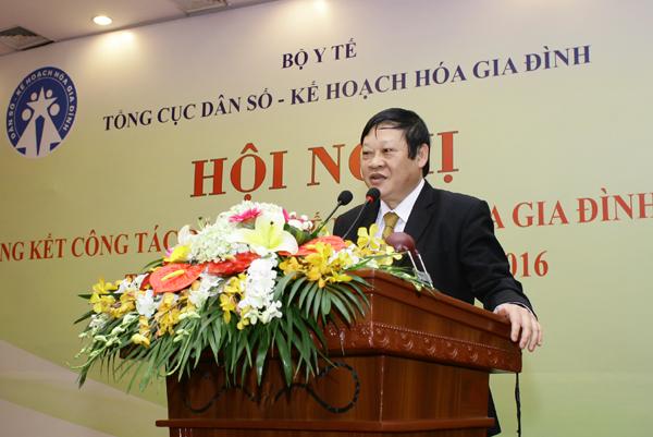 GS.TS Nguyễn Viết Tiến, Thứ trưởng Bộ Y tế phát biểu tại Hội nghị. Ảnh: Chí Cường