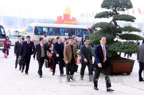 Đoàn đại biểu có mặt tại Trung tâm hội nghị Quốc gia Mỹ Đình. Ảnh TTXVN