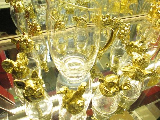 Bộ ly 12 con giáp mạ vàng
