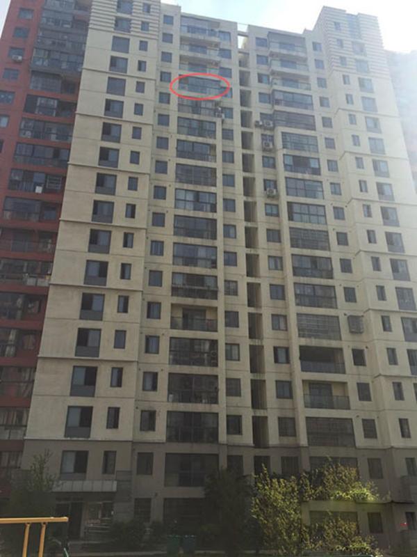Căn hộ mà gia đình Kỳ Kỳ mới mua nằm ở tầng 15 của khu nhà.