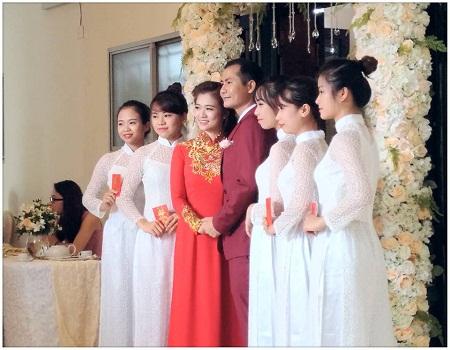 Ảnh hiếm hoi về Lễ ăn hỏi và Đám cưới của BTV Thanh Huyền được người thân chia sẻ trên trang cá nhân.
