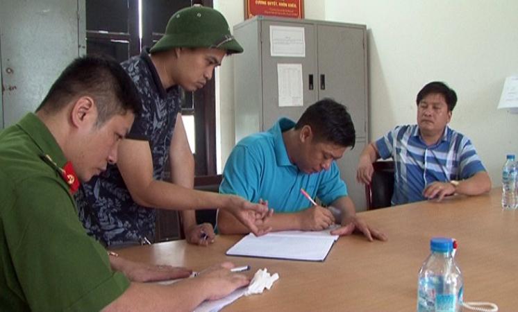 Lực lượng Công an đang tập trung phá án. Ảnh: M. Châu