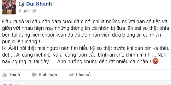 NTK trẻ đã lên tiếng về câu chuyện cầu hôn của Hồ Ngọc Hà.